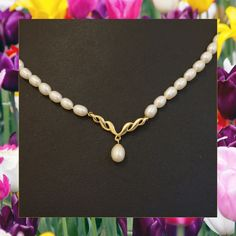 "Looking for something timeless? We recommend a beautiful Pearl Necklace, which can a wonderful accessory or even the main event to an outfit. £249 9Carat Yellow Gold 16"" Strand Freshwater Pearl Necklace 4mm Wide"