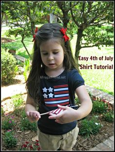Easy 4th of July T-Shirt (Tutorial)