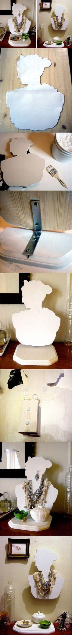 DIY jewelry display, Grecian goddess