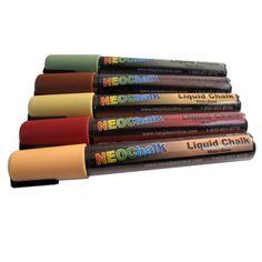 Rustic Earth Tone Colors Liquid Chalk Markers 5 Piece Set