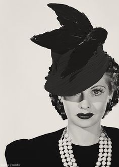 Lucille Ball had gigs as a hat model. True story. Lucille began her career in the 20s and didn't achieve stardom until the close of the 40s.