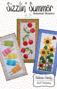 Sizzlin' Summer Seasonal Skinnies pattern by ribboncandyquilts, $9.00