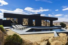 Black Desert Home by creative director Marc Atlan together with architectural studio Oller & Pejic