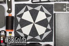 Golda is Block 38 of Farmer's Wife 1930's Sampler Quilt