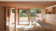 Timber and brick surfaces soften extension by O'Sullivan Skoufoglou