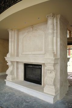 old worl fireplaces | Old World Fireplaces traditional family room