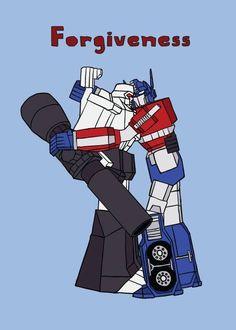 Optimus Prime and Megatron forgiveness