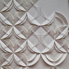 artist liz sofield 'Twisted Rhythm detail, hand folded and hand stitched on watercolour paper. artist liz sofield 'Twisted Rhythm detail, hand folded and hand stitched on watercolour paper. Origami Paper Art, Fabric Origami, Fabric Art, Fabric Crafts, Paper Crafts, Stitching On Paper, Hand Stitching, Design Textile, Textile Art
