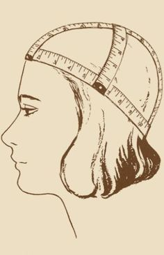 measuring heads for hats quite a goofy vintage picture but the information is valid not to mention its one of the only places i could find where they suggest doing more than one measurement for a better fit evelyn ellenor of mad hattery - PIPicStats Techniques Couture, Sewing Techniques, Hat Patterns To Sew, Sewing Patterns, Sewing Hacks, Sewing Crafts, Sewing Tips, Knit Crochet, Crochet Hats