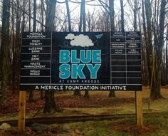 Great opening day at Blue Sky at Camp Kresge for the 2015 season! 65 students from Pittston Area High School were present today for Greiner Packaging's presentation on their sustainability efforts. The students also participated in team building exercises. The Blue Sky Program is a Mericle Foundation Initiative.