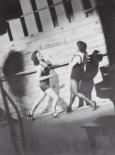 Norma Shearer being taught to dance an Italian Renaissance waltz by Agnes de Mille, 1936