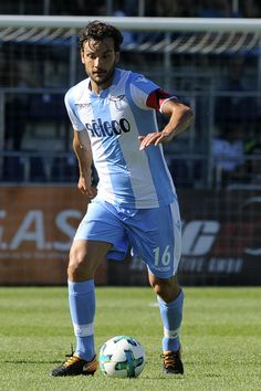 Marco Parolo of SS Lazio in action during the pre-season friendly match between SS Lazio and Bayer Leverkusen  at Goldberg-Stadion on July 30, 2017 in Salzburg, Austria.