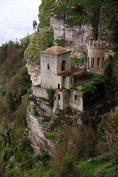 Cliff Castle, Trapani, Sicily, Italy by Eva