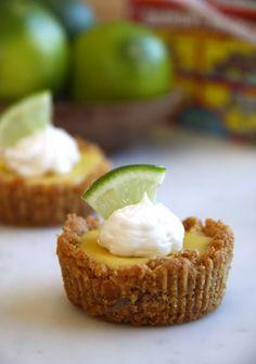Mini Key Lime Pies with Animal Cracker Crust    via climbing grier mountain