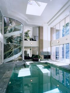 beautiful indoor pool and staircase yes please. beautiful ideas. Home Design Ideas