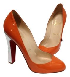 Christian Louboutin Sz 38 (7.5 - 8) Orange And Silver Pumps. Get the must-have pumps of this season! These Christian Louboutin Sz 38 (7.5 - 8) Orange And Silver Pumps are a top 10 member favorite on Tradesy. Save on yours before they're sold out!