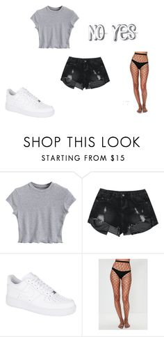 A fashion look from September 2017 featuring grey crop top, cut-off jean shorts and fishnet pantyhose. Browse and shop related looks. Grey Crop Top, Crop Tops, Cut Off Jeans, Fishnet, Missguided, Jean Shorts, Fashion Looks, Nike, Polyvore