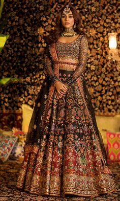 Bridal lehenga Store strongly believes that the ultimate empowerment is to wear something incredibly simple! Also, worldwide shipping is available. Indian Bridal Outfits, Pakistani Wedding Outfits, Pakistani Wedding Dresses, Indian Designer Outfits, Indian Bridal Couture, Wedding Hijab, Designer Bridal Lehenga, Bridal Lehenga Choli, Sabyasachi Wedding Lehenga