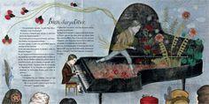 "Delphine Jacquot illustration for ""Monsieur Chopin""."
