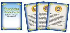 Success Oracle Cards - print your own oracle card deck. 44 mini card deck for guidance and divination, Instant download
