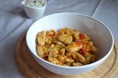 cícer recepty Kung Pao Chicken, Main Meals, Potato Salad, Healthy Recipes, Healthy Food, Potatoes, Menu, Lunch, Ethnic Recipes