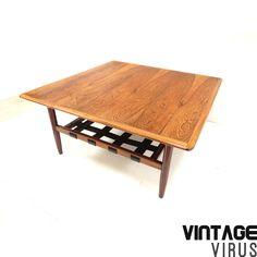 [:en]Mid century Danish design rosewood coffee table[:nl]Vintage Deens design Palissander salontafel