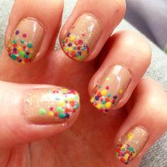 Dotty nails.