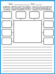 Enormous Crocodile Character Description Worksheet Roald Dahl Lesson Plans