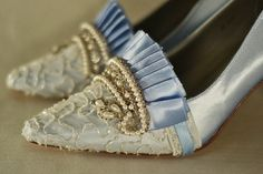Marie Antoinette Baby Blue Beaded Pumps by OxfordIsHeaven on Etsy, $190.00