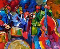 Abstract jazz art