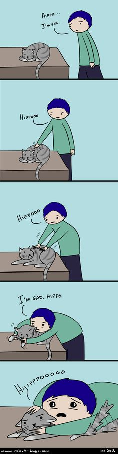 Ahahaha I relate to this do much. So does my cat Stuff To Do, Cool Stuff, Bipolar Disorder, Hug, Robot, Puppies, Comics, Cats, Cubs