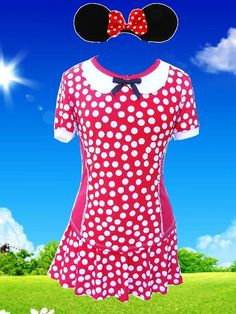 Minnie Mouse inspired running top by iGlowRunning on Etsy, $54.00