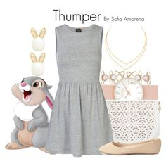 Thumper by sofiaamorena on Polyvore featuring ONLY, Charlotte Russe, Under One Sky, Lipsy, Accessorize, Lana and Thumper