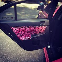 Pink car. Pink leopard interior<3