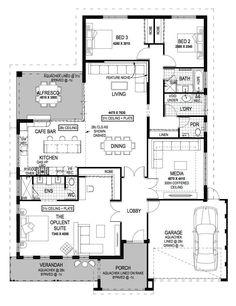Modena Single Storey Home Design Foundation Floor Plan WA Plan