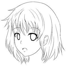 Sekai's Blog: Apprendre à dessiner Manga: Tutoriel Manga: Comment dessiner le visage de trois quart