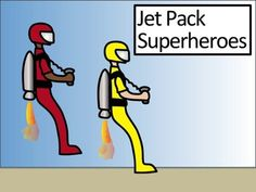 Clip Art Super Hero with Jet Pack Each super Hero 300 dpi image is saved in a png file. 7 clip art pieces include: 1 red 1 pink 1 blue 1 green 1 yellow 1 brown 1 black and white SO easy Terms of Use: Feel free to use as you see fit- in personal or commercial products.