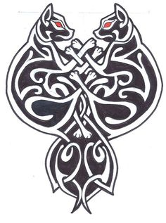 Celtic Cats by *MADmoiselleMeli on deviantART, nice tattoo