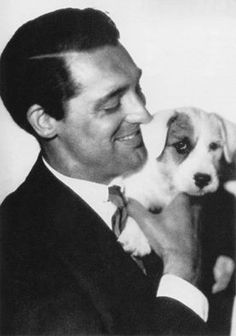Cary Grant and his dog Archie Leech.