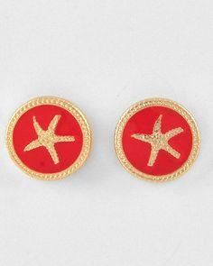 Carlyn Smith Creations Store - Orange Starfish Stud Earrings, $6.99 (http://www.carlynsmithcreations.com/products/orange-starfish-stud-earrings.html)