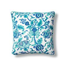 Amanda Cotton Pillow Cover Turquoise Decorative Pillow Shams ($65) ❤ liked on Polyvore featuring home, bed & bath, bedding, bed accessories, turquoise bedding, floral bedding, roberta roller rabbit, turquoise blue bedding and cotton bed linen