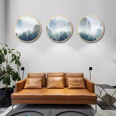 Landscape Walls, Landscape Paintings, Landscape Posters, Canvas Home, Canvas Wall Art, Modern Wall Decor, Modern Art, Nordic Art, Wood Rounds