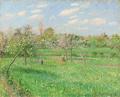 "Camille Pissarro ~ ""Spring, Morning, Cloudy, Eragny"", 1900"