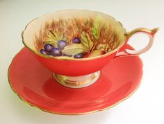 Signed by D Jones Aynsley tea cup and saucer by JoyJoeTreasures, $65.00
