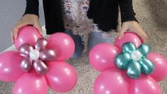 Sons Birthday, Diy Birthday, Birthday Gifts, Balloon Flowers, Balloon Bouquet, Girls Party Decorations, Flower Decorations, Balloon Crafts, Flower Video