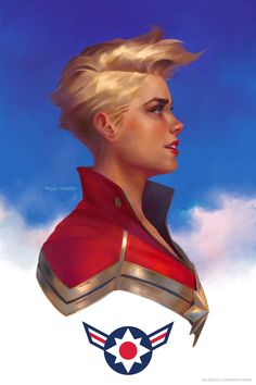 New Captain Marvel portrait to welcome in the new year.  Happy 2016, everyone! by Miguel Mercado