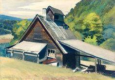 Edward Hopper, Vermont Sugar House  on ArtStack #edward-hopper #art