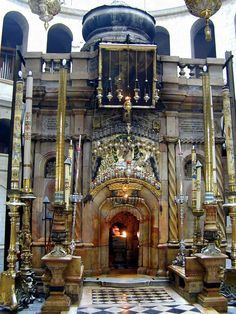 The Holy Sepulchre Church which is built over the site of Jesus' execution, burial and resurrection
