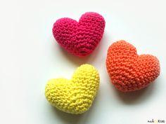 Gratis haakpatroon: valentijnshartjes   Free crochetpattern: valentineshearts