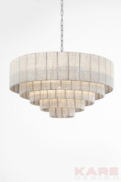 Pendant Lamp Glamour Steps Cinque Ø81cm by KARE Design #lamp #glamour #blingbling #glitter #diamonds #sparkle #KARE #KAREDesign